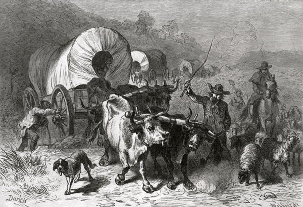 Detail of Emigration to the Western Country, engraved by Bobbett by Felix Octavius Carr Darley