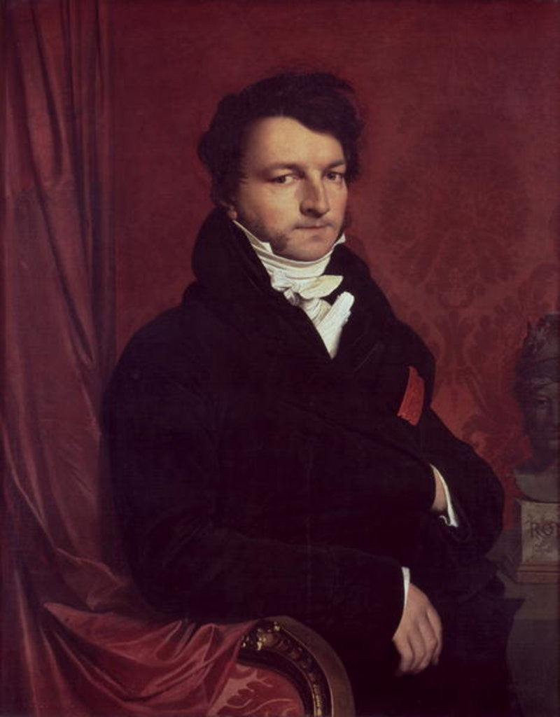 Detail of Monsieur de Norvins by Jean Auguste Dominique Ingres