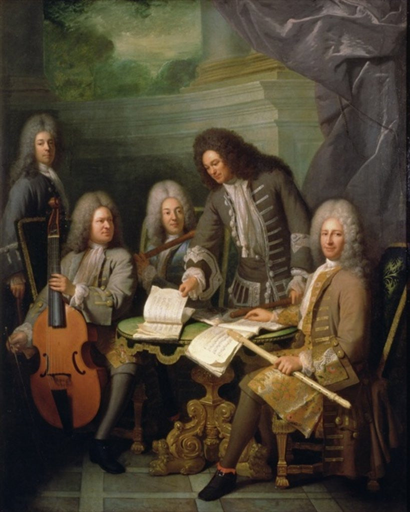 Detail of La Barre and Other Musicians by Andre Bouys
