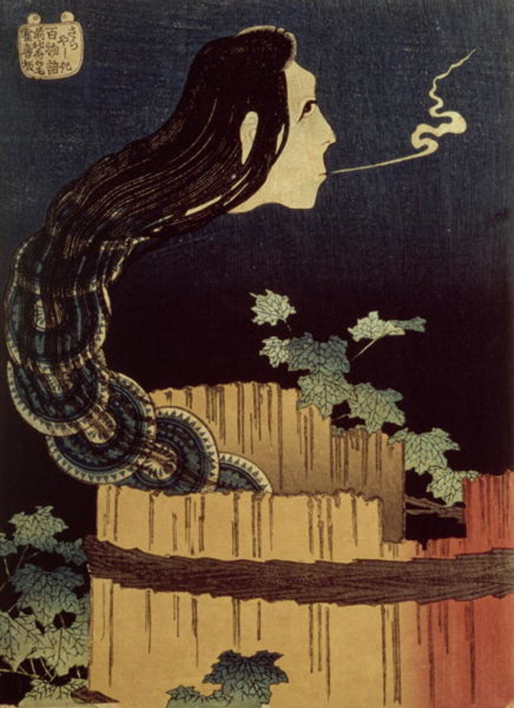 Detail of Japanese Ghost by Katsushika Hokusai