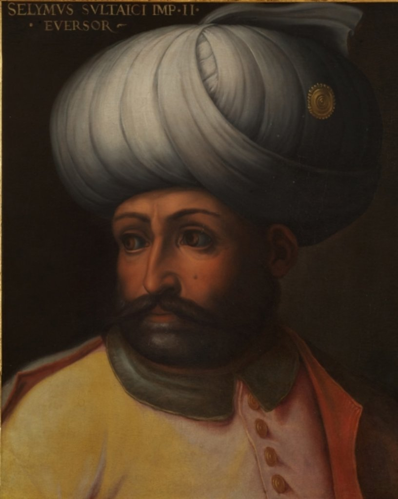 Detail of Portrait of Sultan Selim II 'The Destroyer' by Cristofano dell' Altissimo