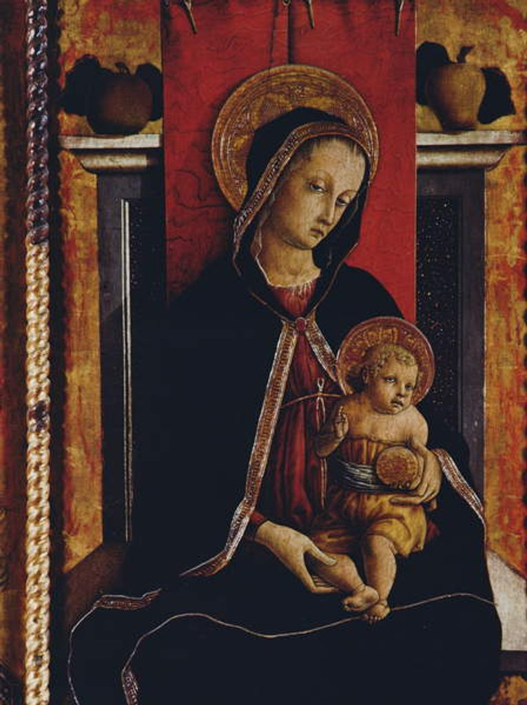 Detail of Madonna and Child by Carlo Crivelli