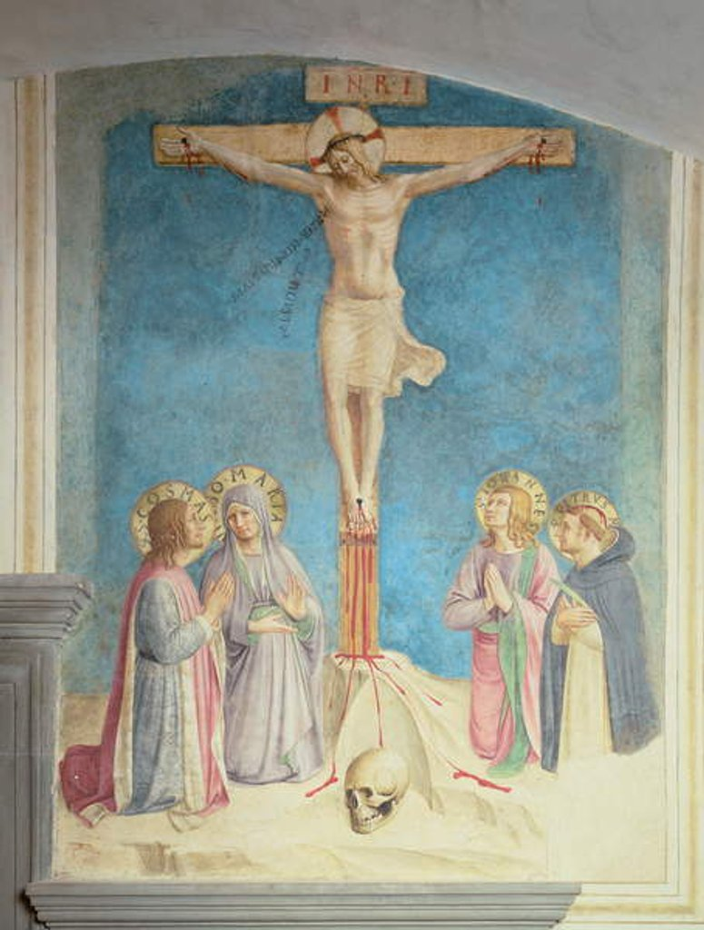 Detail of Crucifixion with SS. Cosmas, John and Peter Martyr, 1442 by Fra Angelico