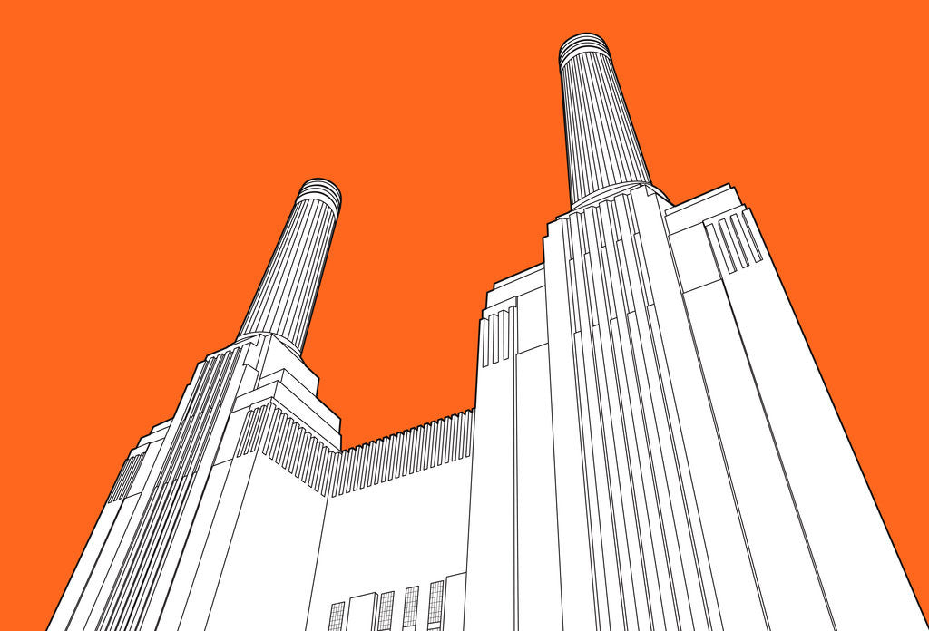 Detail of Battersea Power Station by People Will Always Need Plates