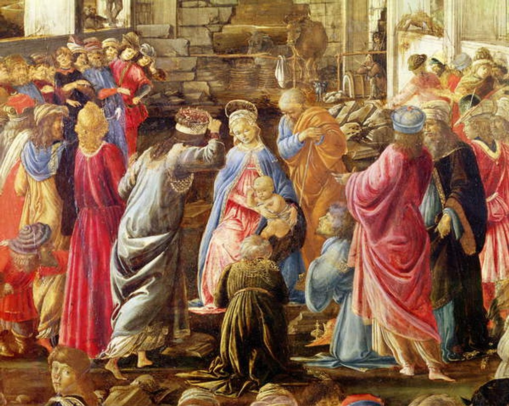 Detail of The Adoration of the Kings, c.1470-75 by Sandro Botticelli