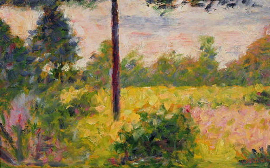 Detail of Barbizon Forest by Georges Pierre Seurat