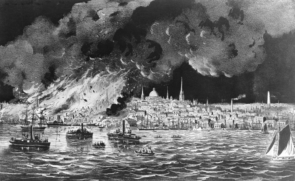 Great Fire at Boston by Corbis