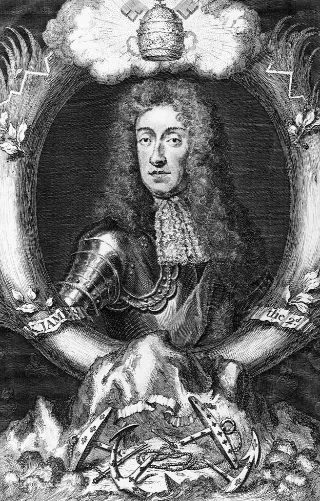 Detail of King James II (1633-1701) of England by Corbis