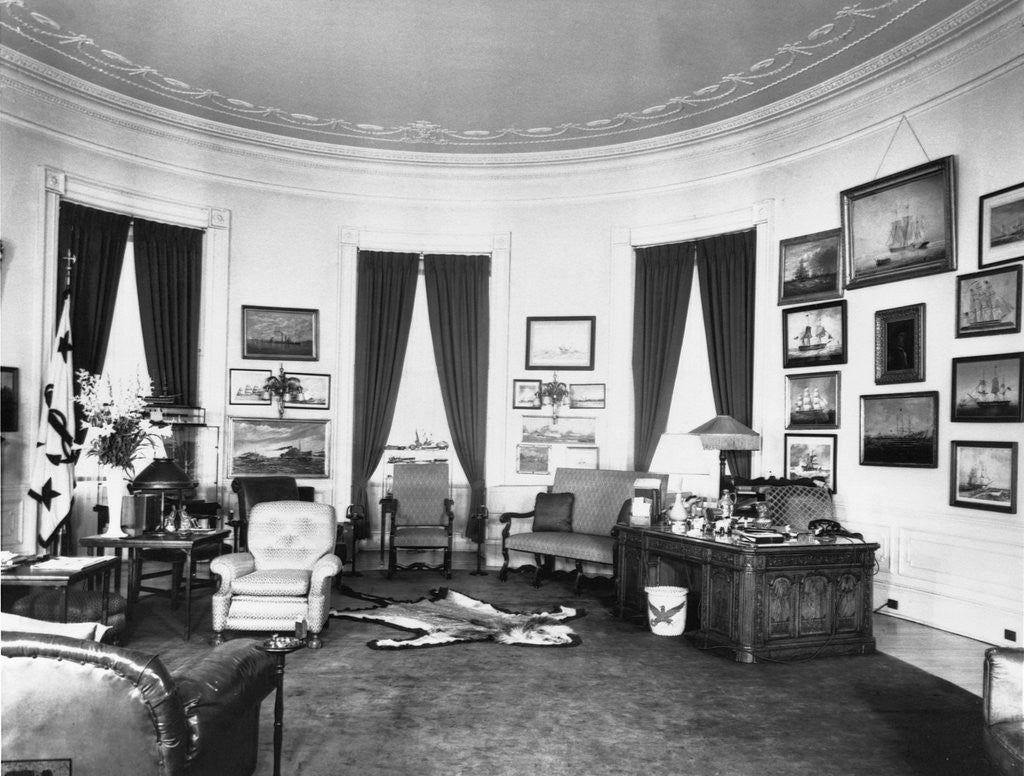 Detail of Oval Office by Corbis
