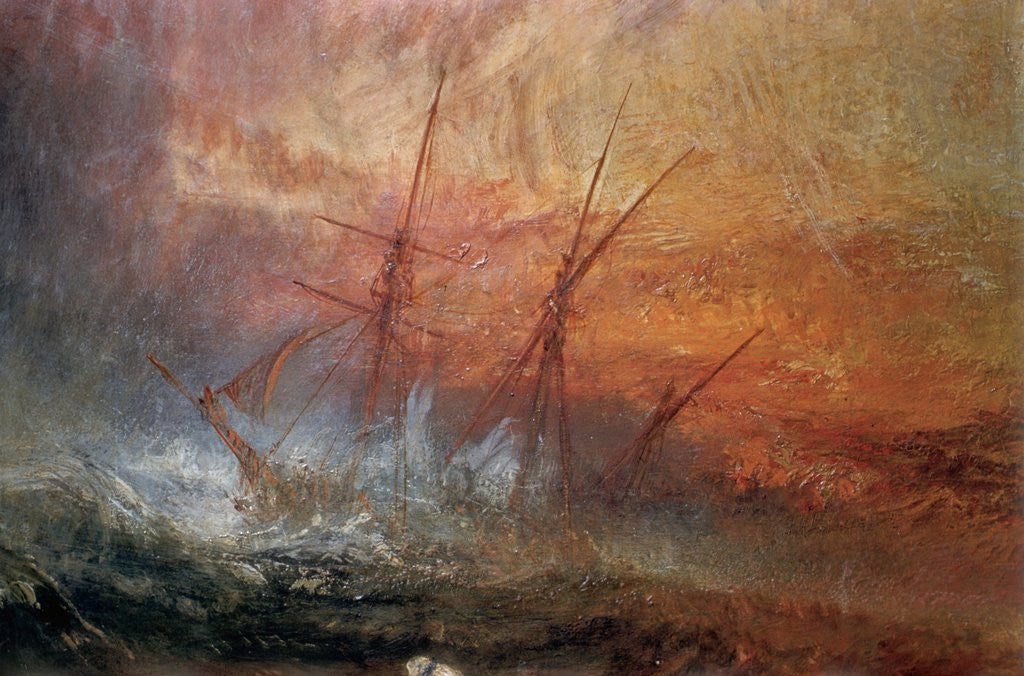 Detail of Detail of Sailing Ship from The Slave Ship by Joseph Mallord William Turner