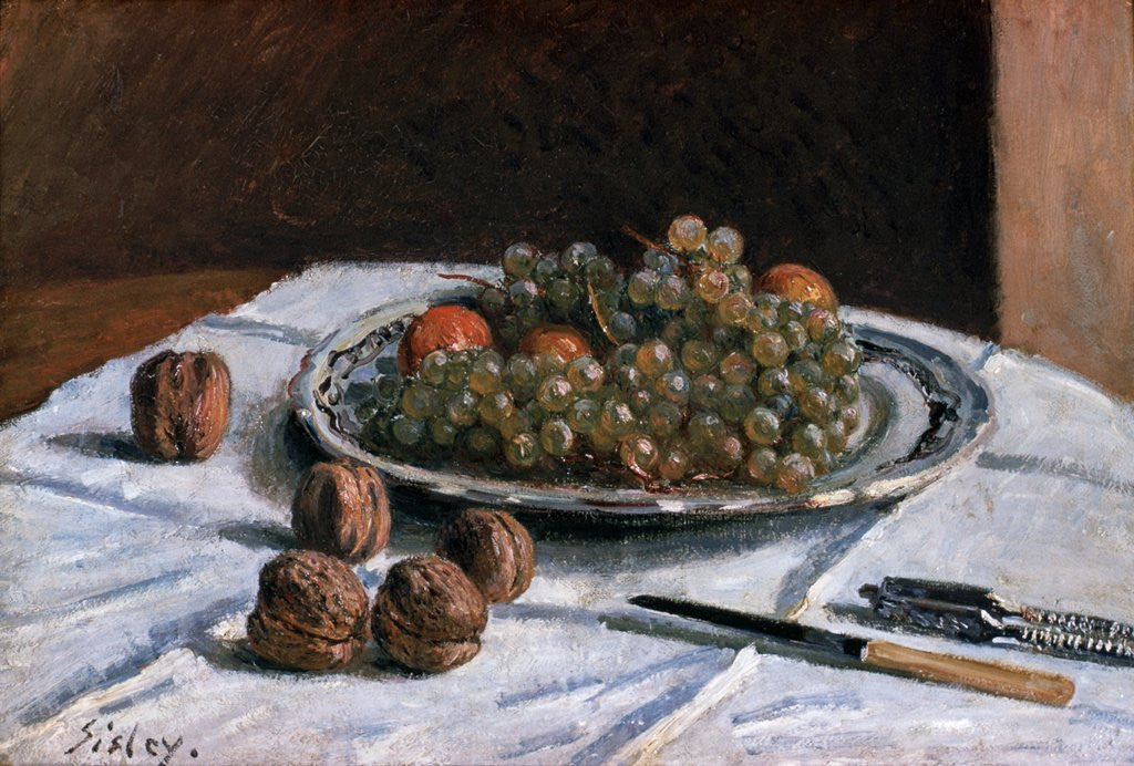 Detail of Grapes and Walnuts by Alfred Sisley