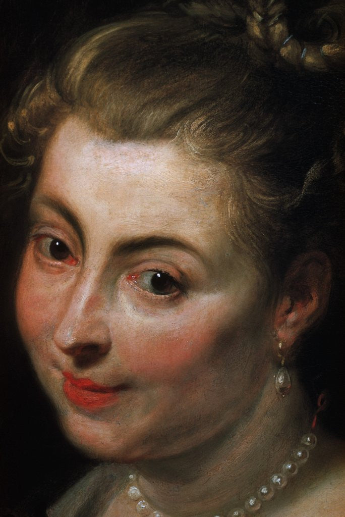 Detail of Detail of Face from Isabella Brant as Glycera by School of Peter Paul Rubens