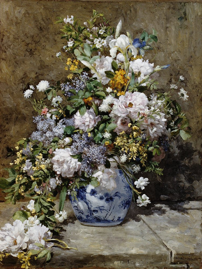 Detail of Spring Bouquet by Pierre-Auguste Renoir