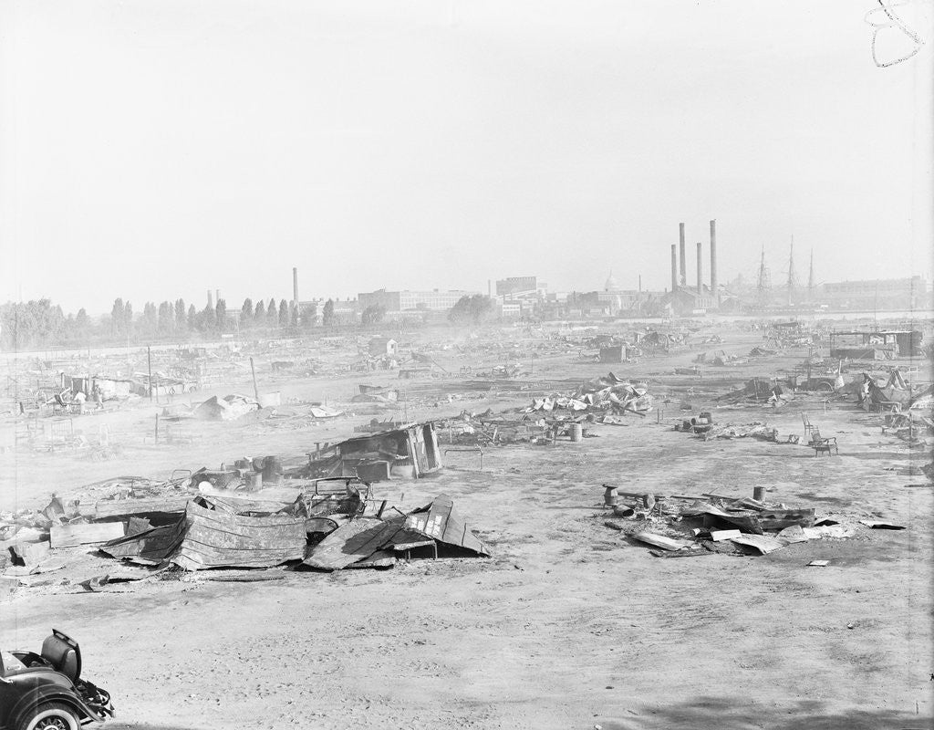Detail of Ruins of Shanty Town on Anacostia Flats by Corbis