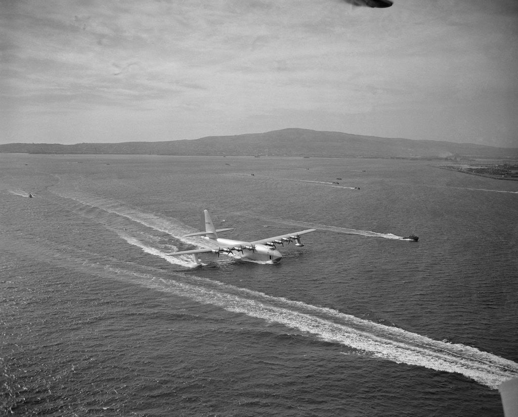 Detail of Howard Hughes' Spruce Goose Taxiing Across Water by Corbis