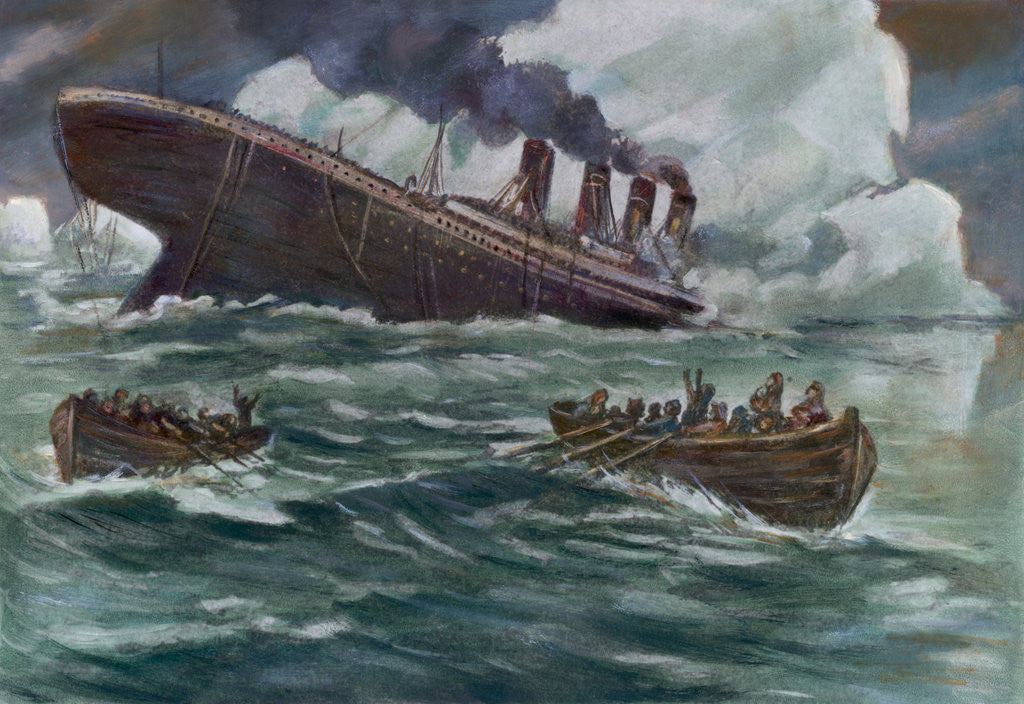 Detail of Drawing of the Sinking of the Titanic by Corbis
