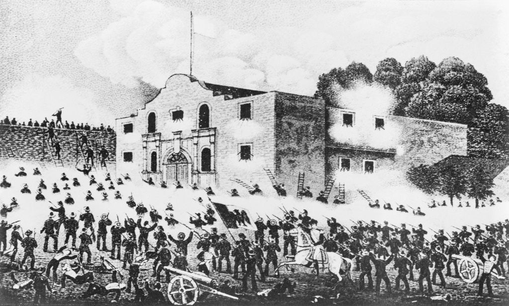 Lithograph Of The Siege Of The Alamo Posters Prints By Corbis