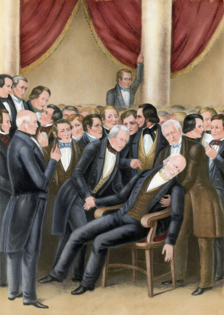 Detail of Death of John Quincy Adams by Corbis