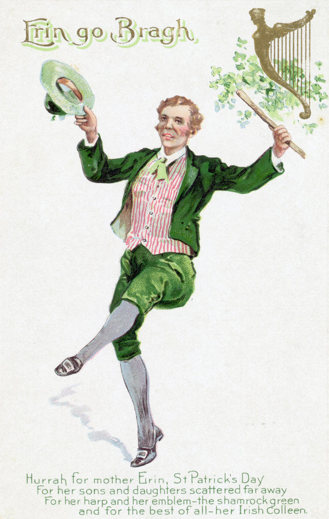 Detail of Engraving of St. Patrick's Day Leprechaun by Corbis