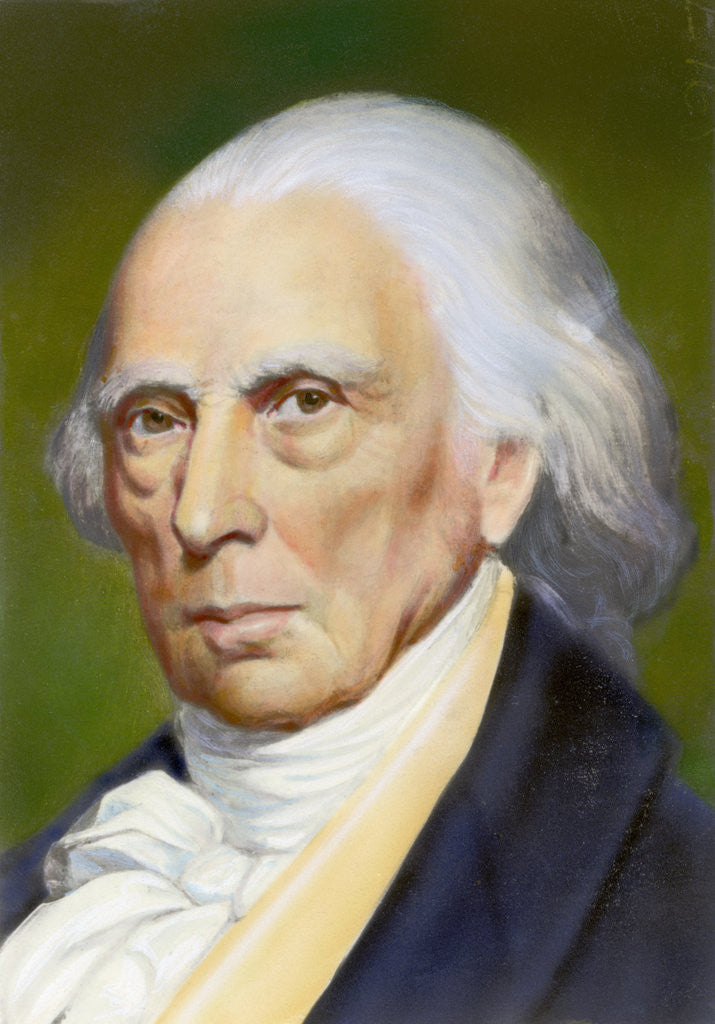 Detail of Portrait of James Madison by Corbis