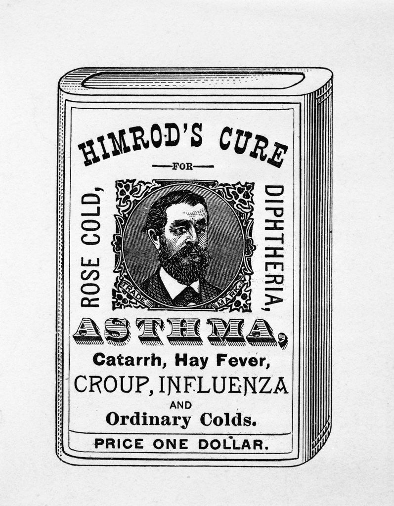 Detail of Ad For Himrod'S Cure by Corbis