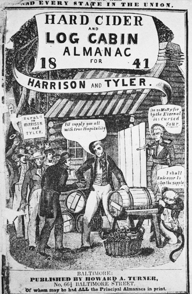 Detail of Almanac Cover Depicting Harrison and Tyler by Corbis