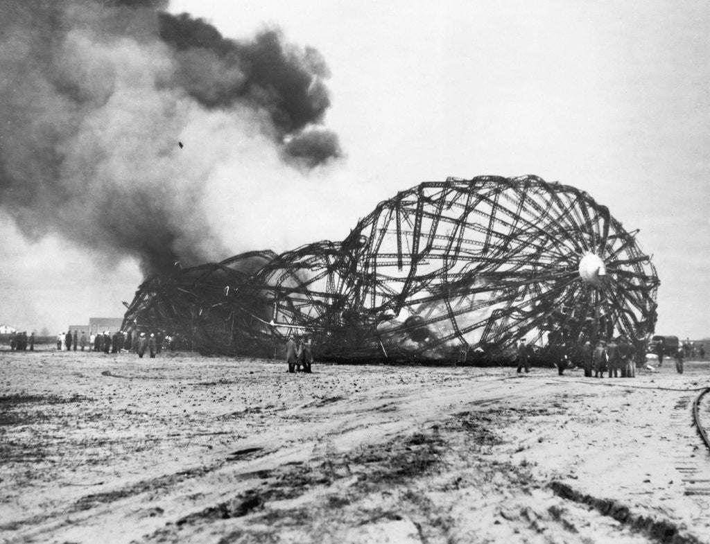 Detail of Burning Shell of the Hindenberg by Corbis