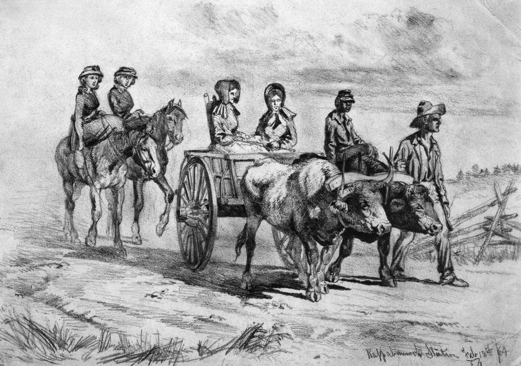 Detail of Drawing Of Southern Family by Corbis