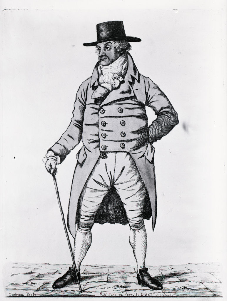 Detail of Engraving Of Fashionable English Gent by Corbis