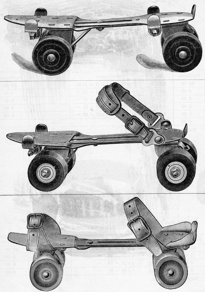 Detail of Three Different Kinds of Roller Skates by Corbis