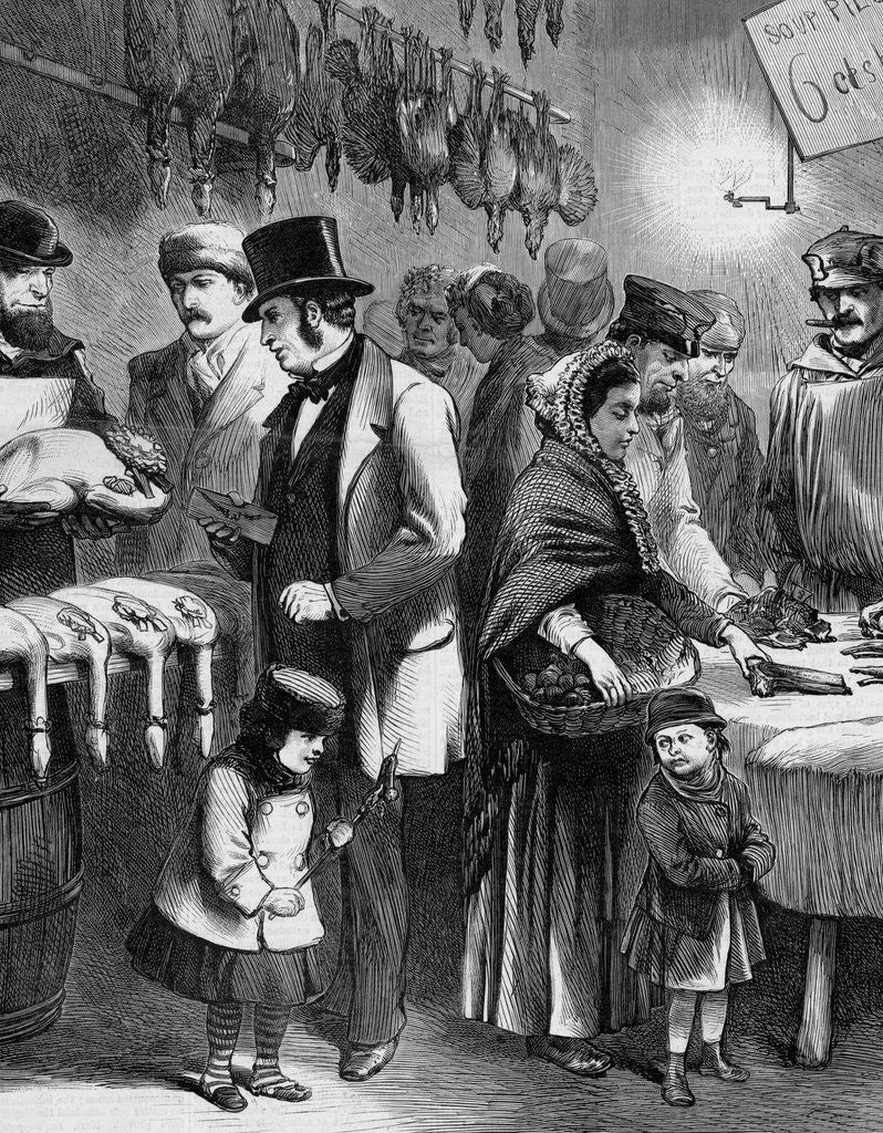 Detail of Rich And Poor; or, the Two Christmas Dinners Illustration by Corbis