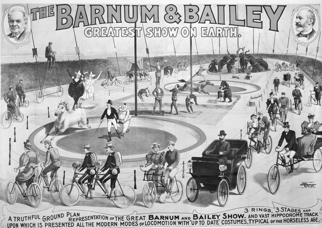 Detail of Barnum And Bailey Circus Advertisement by Corbis