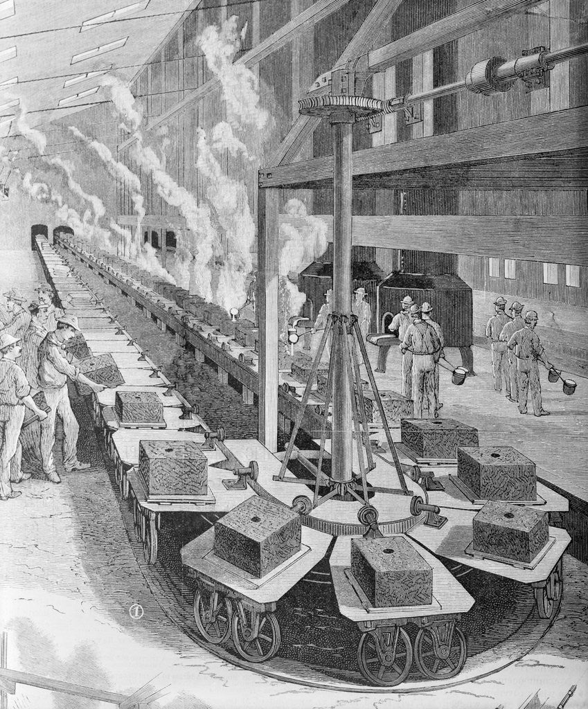 Detail of Early Assembly Line At Westinghouse by Corbis