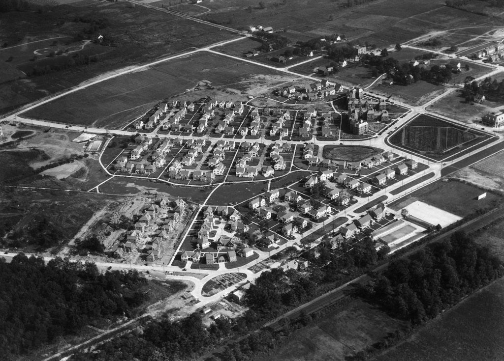 Detail of Aerial View Of Housing Development by Corbis