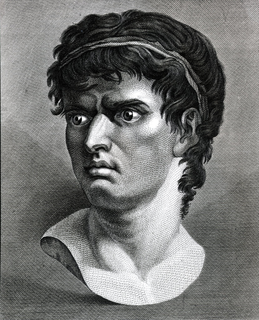 Detail of Engraving Of Head Of Brutus by Corbis