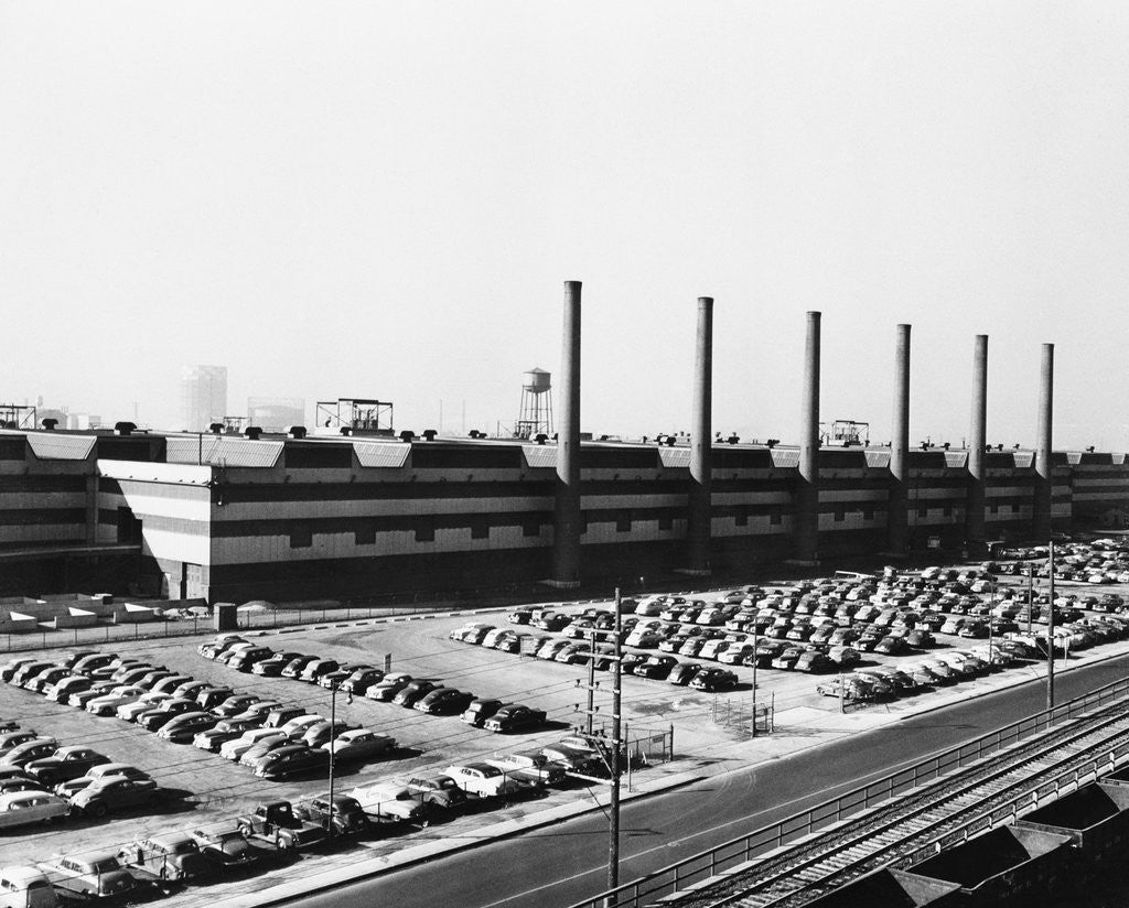 Detail of Exterior View Of Largest Steel Foundry by Corbis