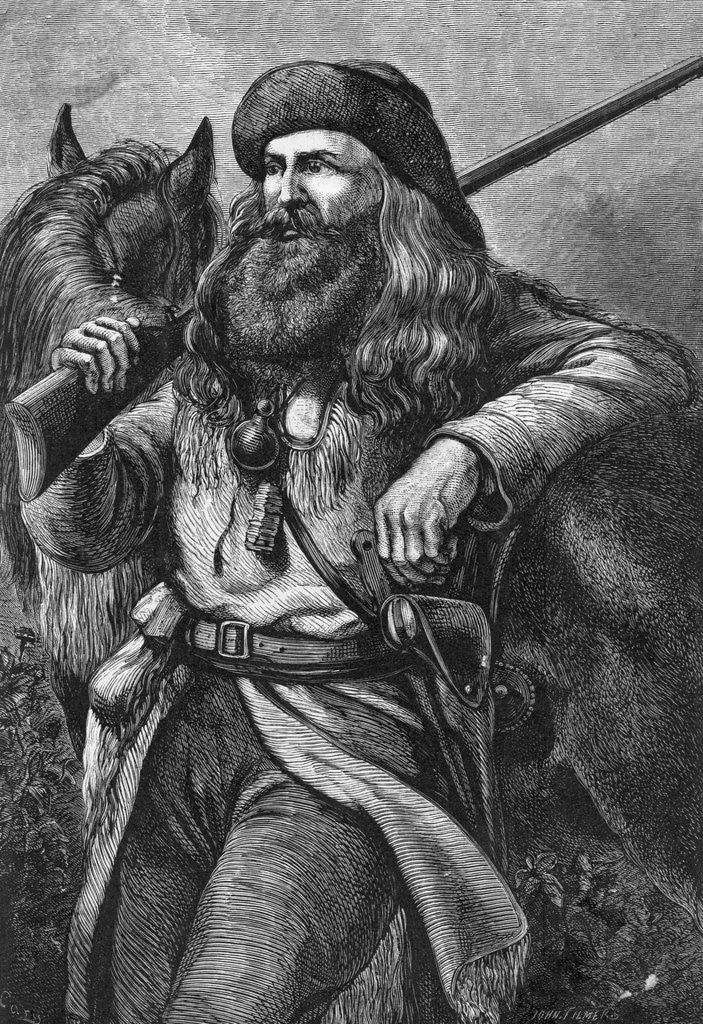 Detail of Illustration of the American Trapper by Corbis