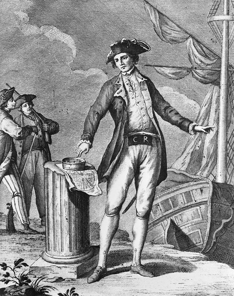 Detail of Engraving Of Captain James Cook by Corbis