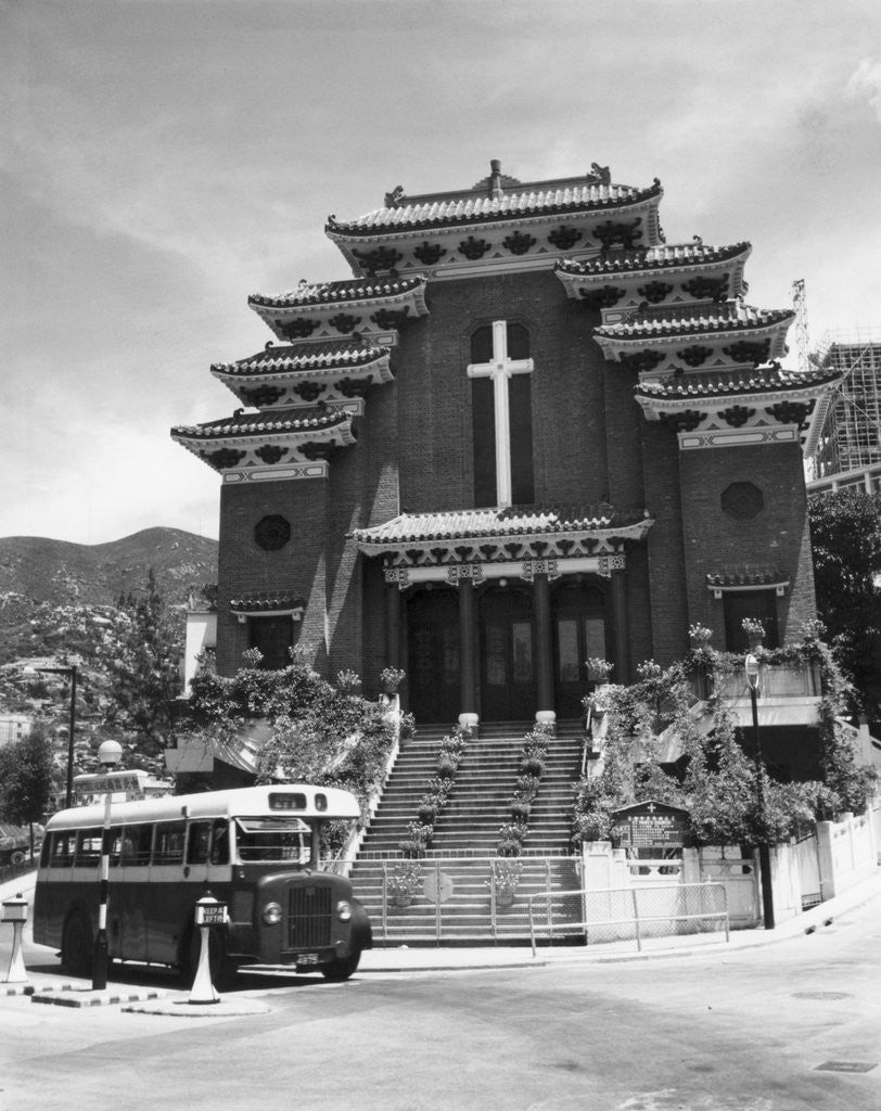 Detail of Church Showing Chinese Architecture by Corbis