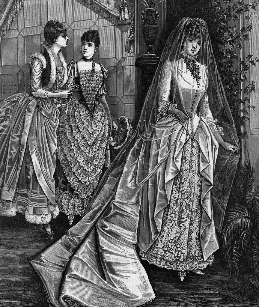 Detail of Illustration Showing Bridal Attire by Corbis