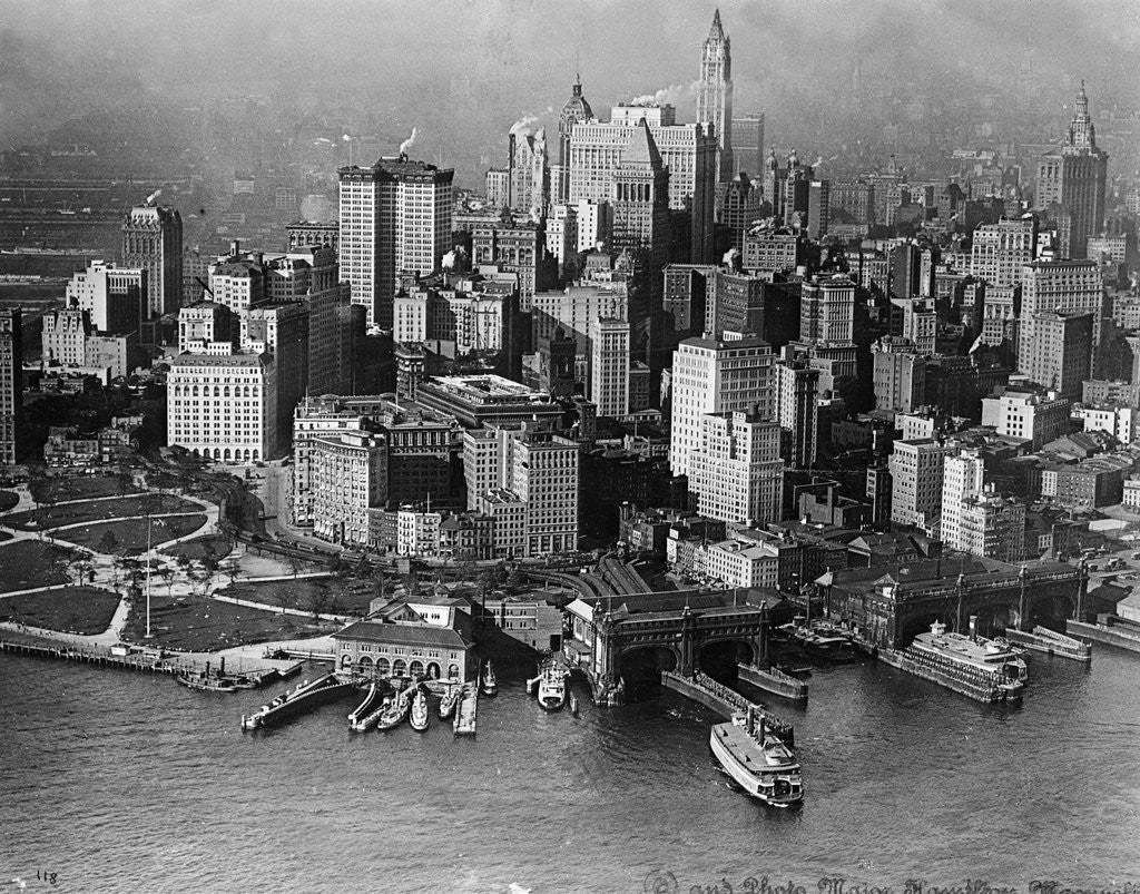 Detail of Aerial View Of Lower New York & Battery by Corbis