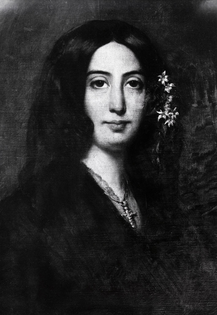 Detail of Detail of Portrait of George Sand by Auguste Charpentier