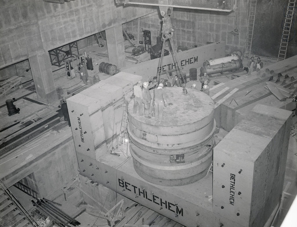 Detail of Completion of Cyclotron by Corbis