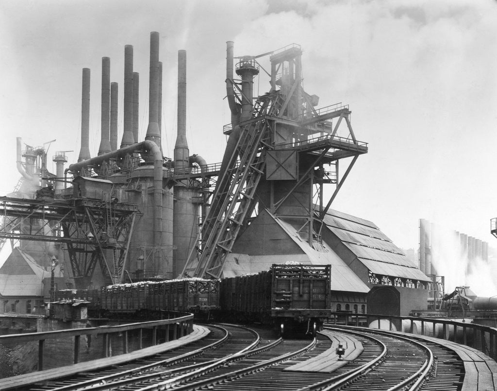 Detail of Blast Furnace Of The Carnegie Steel Corp by Corbis