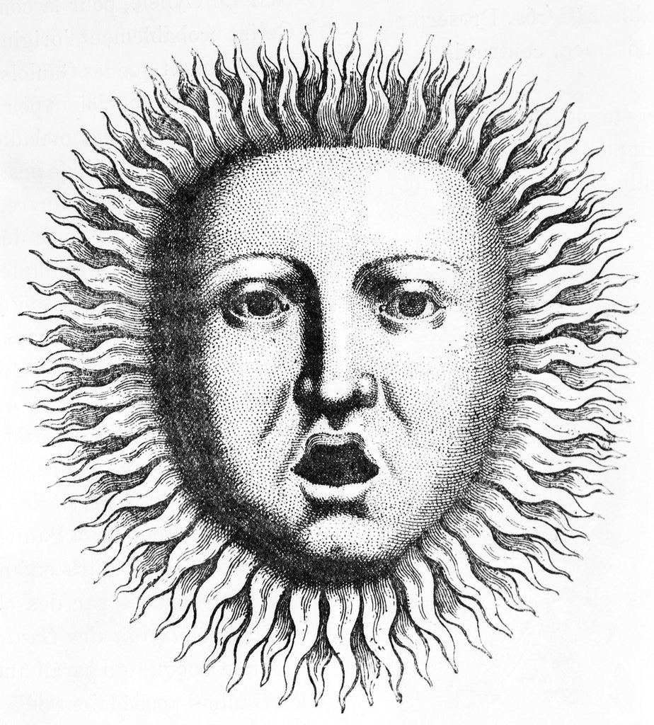 Detail of Head Of Appollo W/Solar Rays by Corbis