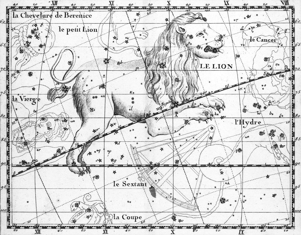 Detail of Engraving Of Constellation Leo by Corbis