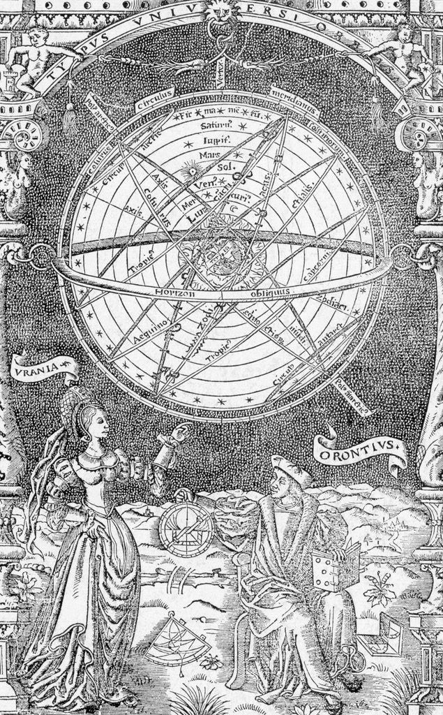 Detail of Urania and Orontis Discussing Celestial Map by Corbis