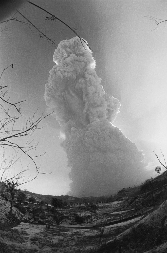 Detail of El Chichon Volcano in Mexico Erupting by Corbis
