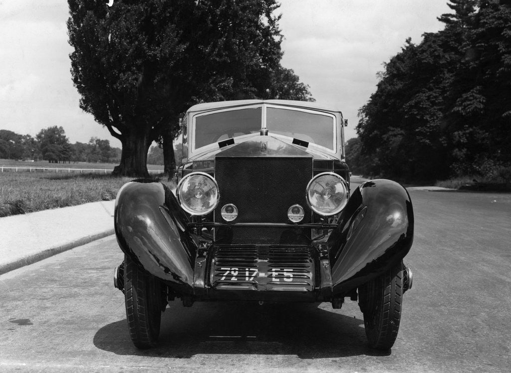 Detail of Frontal View Of Rolls-Royce Automobile by Corbis