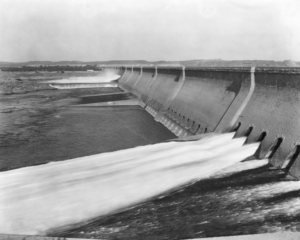 Detail of Assuan Dam on the Nile River by Corbis